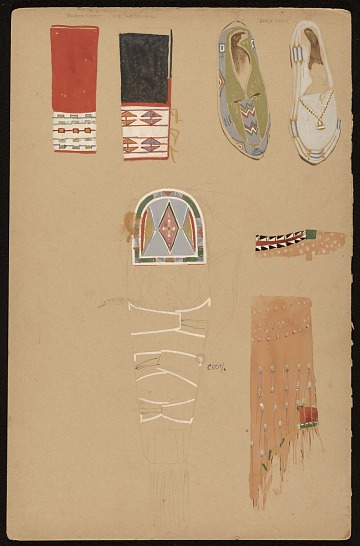 thumbnail image for Native American clothing and papoose designs