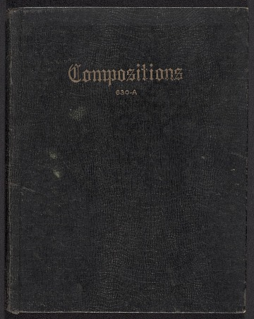 thumbnail image for Composition notebook of paintings by Herman Trunk Jr.