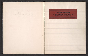 thumbnail image for Notebook of paintings by Herman Trunk Jr.