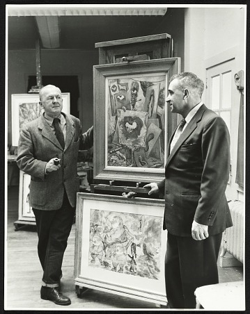 thumbnail image for George Grosz with Alfredo Valente