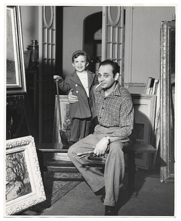 thumbnail image for Arbit Blatas with a young boy.