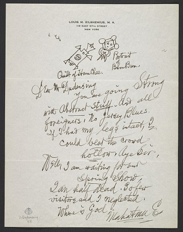 thumbnail image for Louis M. (Louis Michel) Eilshemius, New York, N.Y. letter to F. Valentine Dudensing, New York, N.Y.