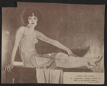 thumbnail image for Anna Mae Clift in <em>Greenwich Village Follies of 1921</em> at the Shubert Theatre