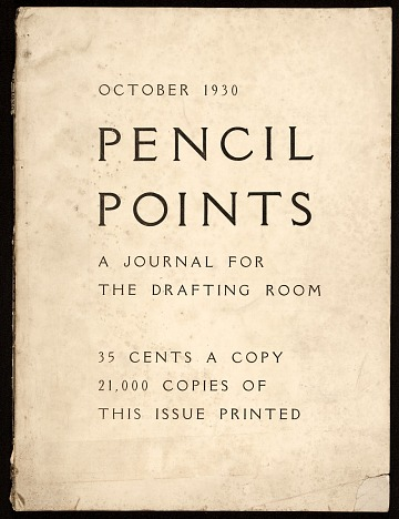 thumbnail image for Pencil points, a journal for the drafting room