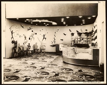 thumbnail image for View of the candy bar designed by John Vassos at the Egyptian Theatre in Los Angeles