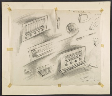 thumbnail image for Concept sketches of radio dials
