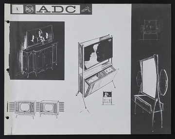 thumbnail image for Concept sketches for the Advanced Design Center at the Radio Corporation of America