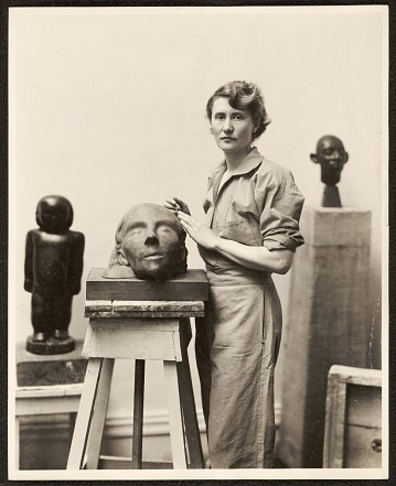 thumbnail image for Marion Walton at work in her studio