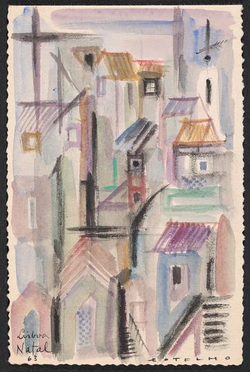 thumbnail image for Carlos Botelho, Lisbon, Portugal christmas card to Harold Weston