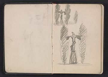 thumbnail image for Gertrude Vanderbilt Whitney sketchbook/diary