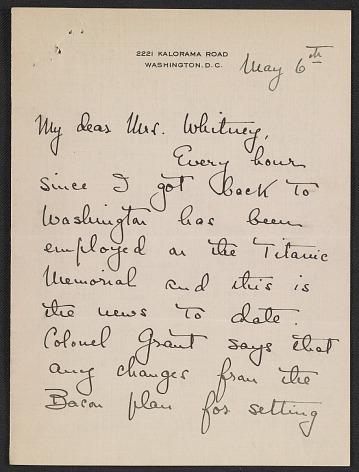 thumbnail image for Letter from Natalie H. Hammond to Gertrude Vanderbilt Whitney
