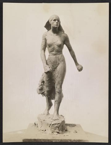 thumbnail image for Clay model of Gertrude Vanderbilt Whitney's sculpture <em>Spirit of the Red Cross</em>