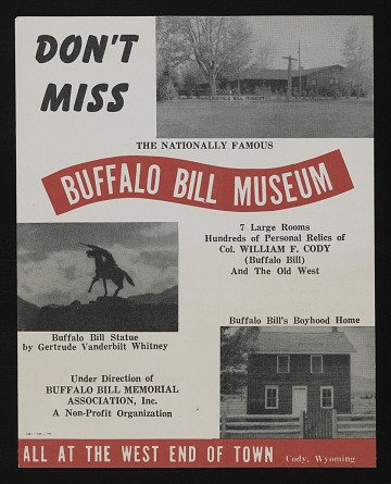 thumbnail image for Flyer for Buffalo Bill Museum