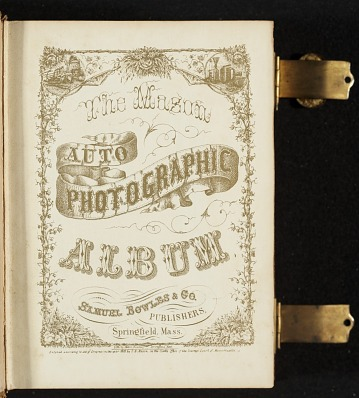 thumbnail image for Photograph album of nineteenth century artists