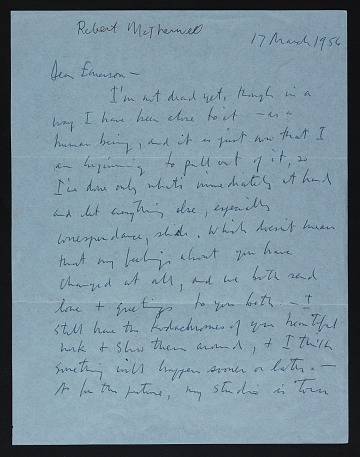 thumbnail image for Robert Motherwell letter to Emerson Woelffer