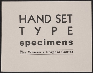 thumbnail image for Hand set type specimens