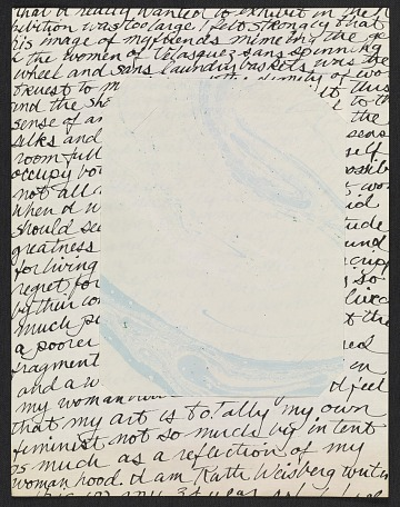 thumbnail image for Collage of handwritten statement and marbled paper