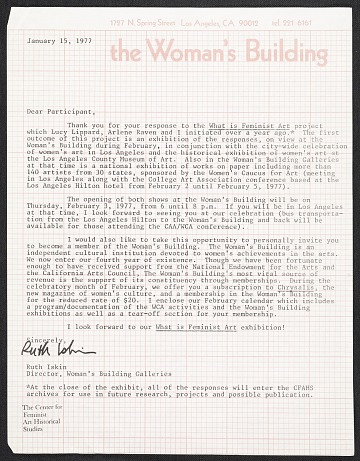 thumbnail image for Ruth Iskin memorandum to unidentified recipient