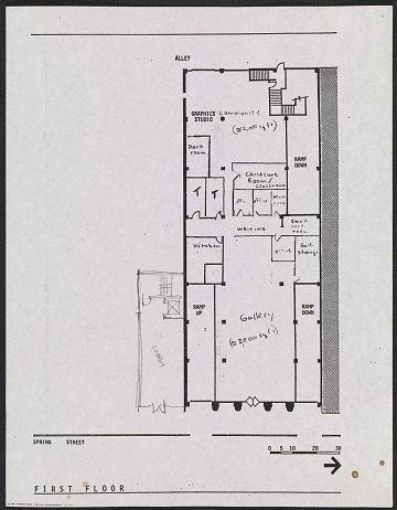 thumbnail image for Floor plan for the proposed Woman's Building, 719-725 S. Spring Street, first floor