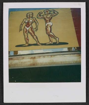 thumbnail image for Sign with bodybuilders in Chicago