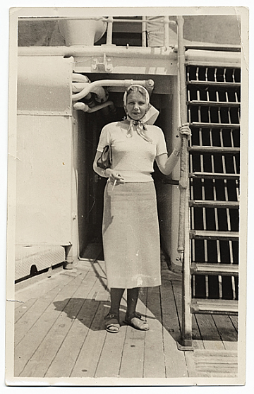 thumbnail image for Edna Andrade aboard a steamship
