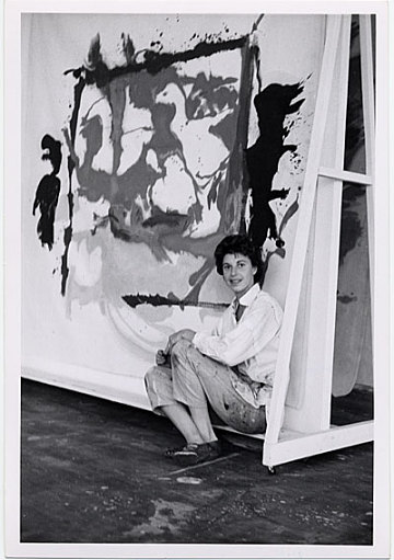 thumbnail image for Helen Frankenthaler in her studio