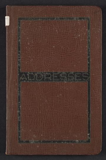 thumbnail image for Kathleen Blackshear's address book