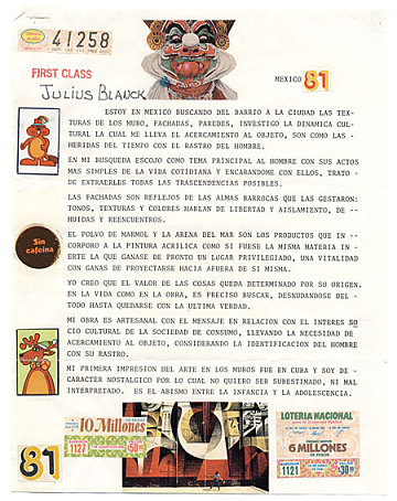 thumbnail image for Miguel Cubiles mail art to Giulio V. Blanc, New York, N.Y.
