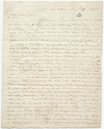 thumbnail image for Thomas Cole letter to George W. Greene
