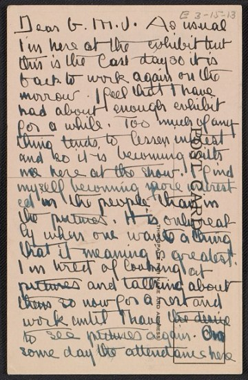 thumbnail image for Andrew Michael Dasburg postcard to Grace Mott Johnson