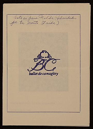 thumbnail image for Program for <em>Ballet de Camaguey</em>