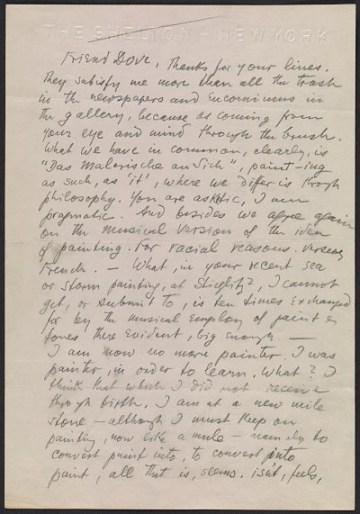thumbnail image for Oscar Bluemner letter to Arthur Garfield Dove