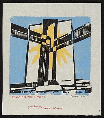 thumbnail image for Werner Drewes Christmas card
