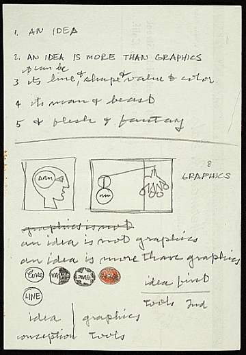 thumbnail image for Frederick Hammersley notes on