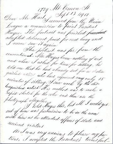 thumbnail image for Thomas Eakins letter to Charles Henry Hart