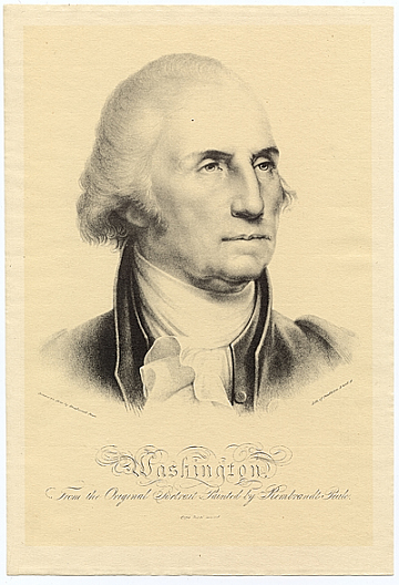 thumbnail image for Washington, from the original portrait painted by Rembrandt Peale