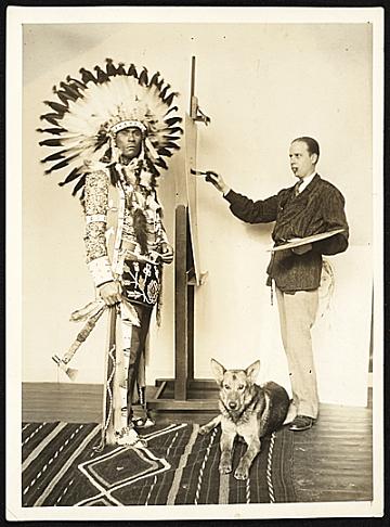 thumbnail image for Chief Oskomon posing for W. Langdon Kihn