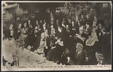 thumbnail image for Armory Show artists and members of the press at the beefsteak dinner given by the Association of American Painters and Sculptors