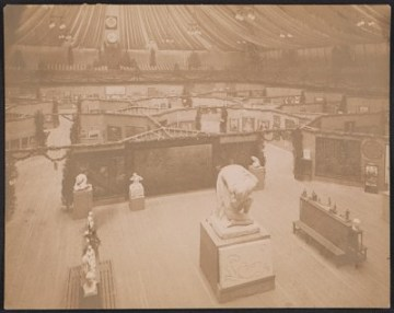 thumbnail image for An overhead installation view of Gallery A at the Armory Show