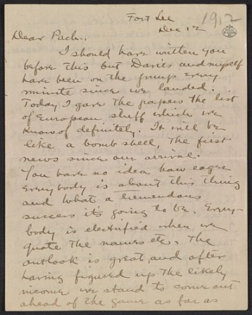 thumbnail image for Walt Kuhn letter to Walter Pach