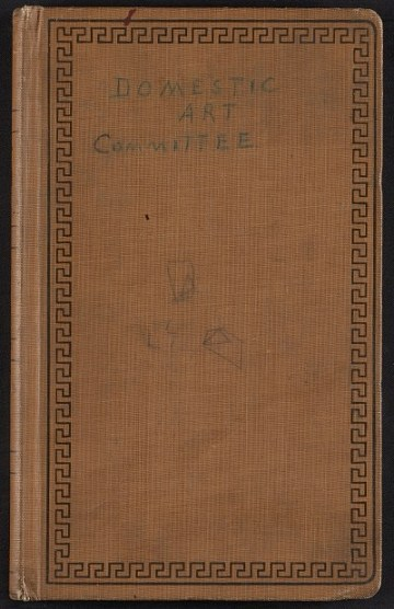 thumbnail image for Association of American Painters and Sculptors Domestic Art Committee record book
