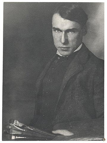 thumbnail image for Walt Kuhn holding palette and paintbrushes