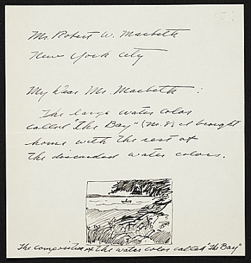 thumbnail image for Andrew Wyeth letter to Robert Macbeth