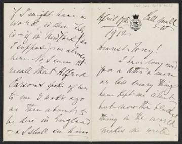 thumbnail image for Henry James letter to Antonio de Navarro