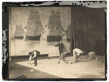 thumbnail image for Francis Davis Millet and assistants working on a mural