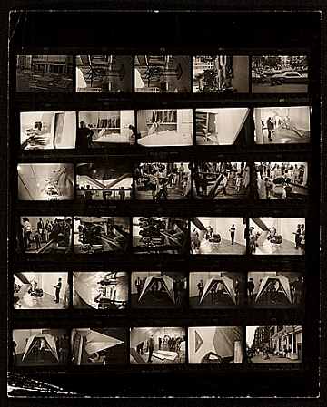 thumbnail image for Contact sheet of images taken at Dean Fleming and Andrew Magar exhibition installation