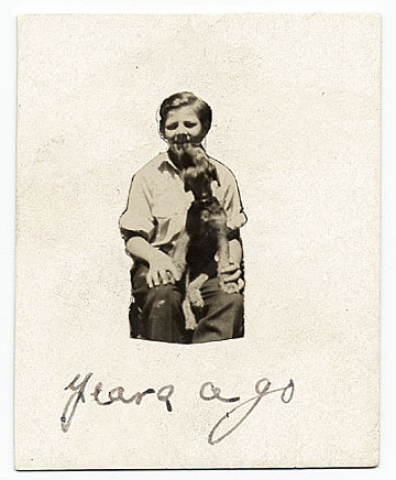 thumbnail image for Jackson Pollock at age 10 with his dog, Gyp