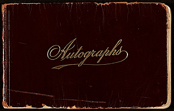 thumbnail image for James D. Preston autograph book