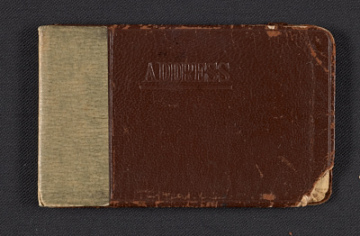 thumbnail image for Ad Reinhardt's address book