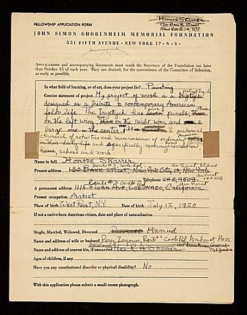 thumbnail image for Fellowship application for the John Simon Guggenheim Memorial Foundation